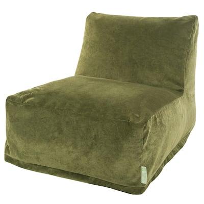 Majestic Home Goods Indoor Villa Velvet Bean Bag Chair Lounger 36 in L x 27 in W x 24 in H