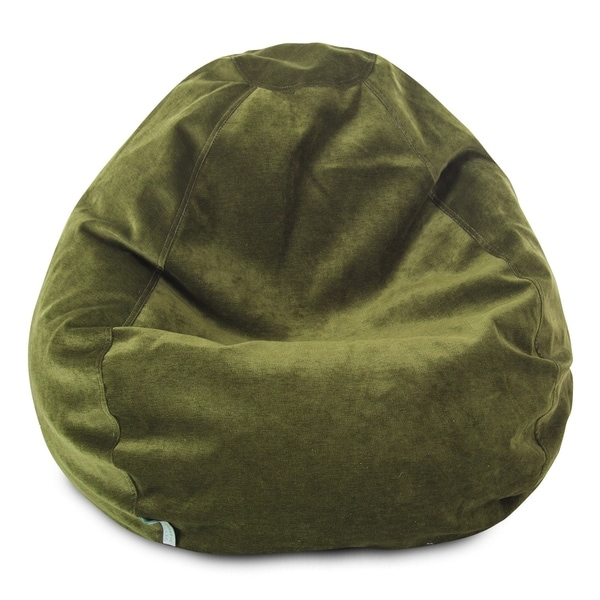 Majestic Home Goods Villa Velvet Collection Bean Bag Chair Small/Large