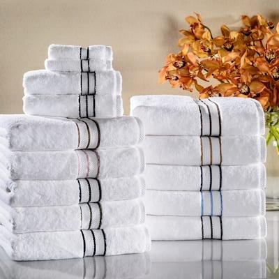 Miranda Haus Turkish Cotton Plush Assorted 6-Piece Solid Towel Set