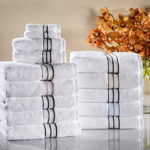 Superior hotel collection 900 gsm combed cotton 6 piece for Hotel sheets and towels