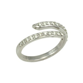 14k White Gold 1/3ct TDW Diamond Open Double-row Fashion Ring