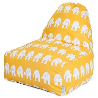 Majestic Home Goods Yellow Ellie Kick-it Chair