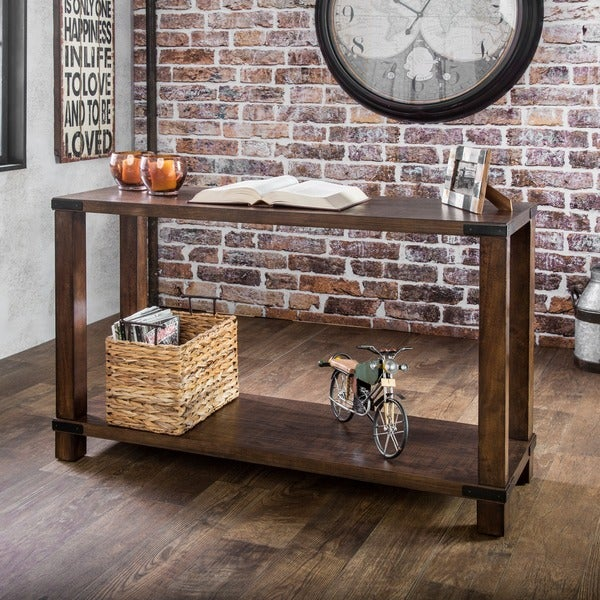 Furniture of america royce modern industrial sofa table for Homegoods industrial furniture