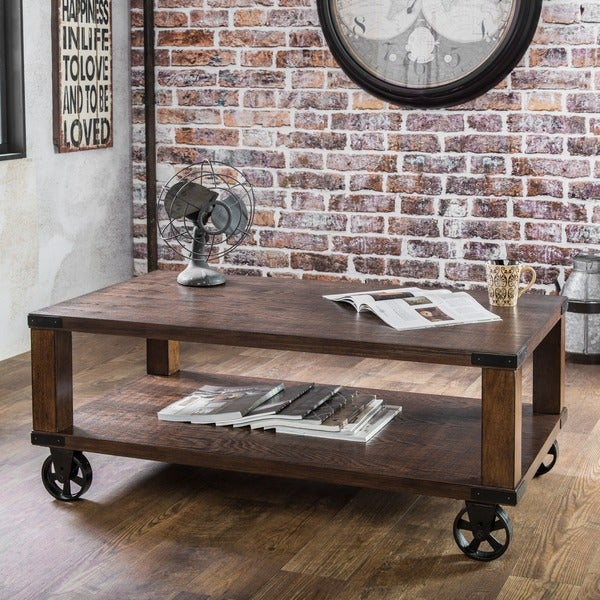 Shop Furniture Of America Royce Modern Industrial Dark Oak