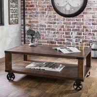 Furniture of America Royce Modern Industrial Dark Oak Coffee Table