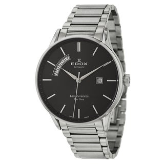 Edox Men's 'Les Vauberts' Stainless Steel Swiss Mechanical Automatic Watch