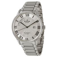 Edox Men's 'Les Vauberts' Stainless Steel Roman Numeral Swiss Automatic Watch