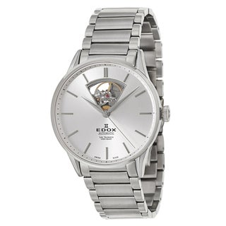 Edox Men's 'Les Vauberts' Swiss Automatic Stainless Steel Watch