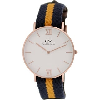 Daniel Wellington Men's Selwyn 0554DW Two-tone Nylon Quartz White Dial Watch