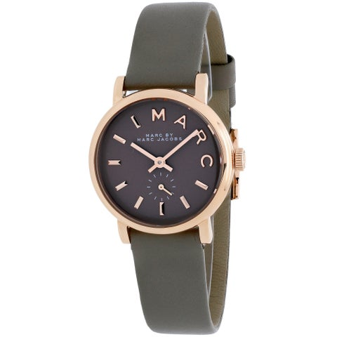 Marc By Marc Jacobs Women's Baker Brown Leather Swiss Quartz Brown Dial Watch