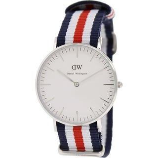 Daniel Wellington Women's Canterbury 0606DW Multicolor Nylon Quartz White Dial Watch