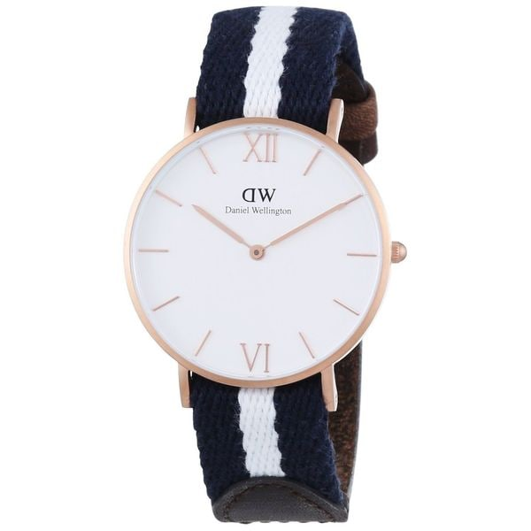 eae061fb336b ... Women s Watches. Daniel Wellington Women  x27 s Glasgow 0552DW Two-tone  Nylon Quartz White Dial