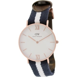 Daniel Wellington Women's Glasgow 0552DW Two-tone Nylon Quartz White Dial Watch