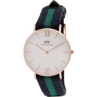 Daniel Wellington Women's Warwick 0553DW Two-tone Nylon Quartz White Dial Watch