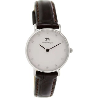 Daniel Wellington Women's York 0922DW Brown Leather Quartz White Dial Watch