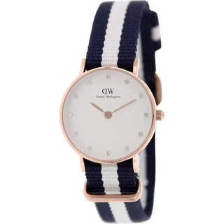 Daniel Wellington Women's Glasgow 0908DW Two-tone Nylon Quartz White Dial Watch