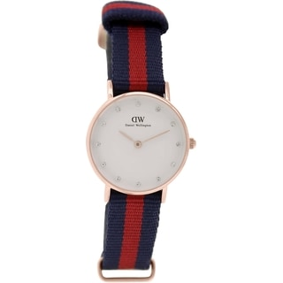 Daniel Wellington Women's Oxford 0905DW Two-tone Nylon Quartz White Dial Watch