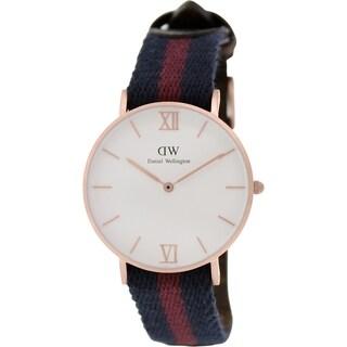Daniel Wellington Women's London 0551DW Two-tone Nylon Quartz White Dial Watch