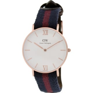 Daniel Wellington Women's London 0551DW Two-tone Nylon Quartz White Dial Watch