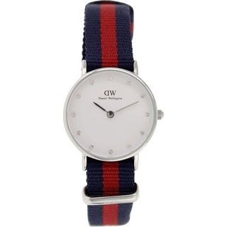 Daniel Wellington Women's Oxford 0925DW Two-tone Nylon Quartz White Dial Watch