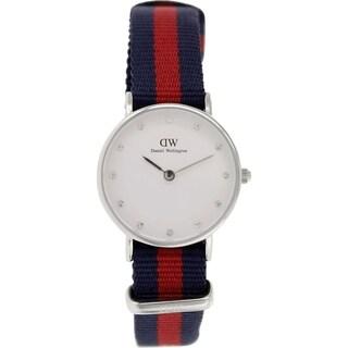 Daniel Wellington Women's Oxford 0925DW Two-tone Nylon Quartz White Dial Watch