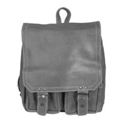 David King Leather 6316 Distressed Laptop Backpack Grey