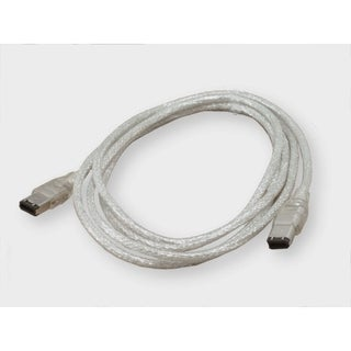 IOCrest Firewire Silver 1394a 6-foot 6 pin to 6 pin Cable
