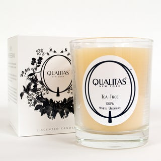 Qualitas 100-percent USP Pharmaceutical White Beeswax Tea Tree Candle