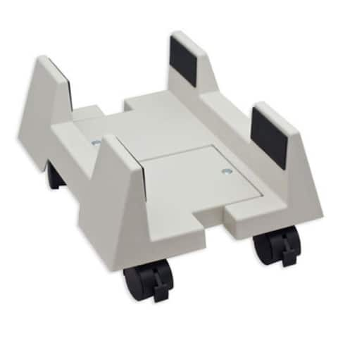 Syba Beige CPU Stand for ATX Case Plastic Adjustable Width With Wheels