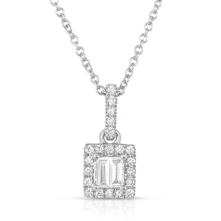 14k White Gold 1/4ct TDW Diamond Pendant Necklace (H-I, I1)
