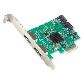 IOCrest PCI-E 2 Interface 4-Port SATA Controller Card With 88SE9230 Chipset