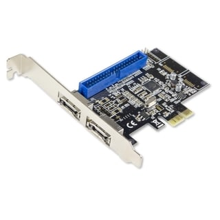 Syba PCIe 2.0 x1 1x PATA and 2x eSATA SATA Combo Card Marvell 88SE9128 Chipset