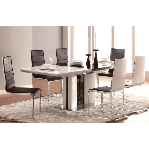 Grandview Modern Black U0026amp; White Dining Set
