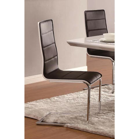 Modern Contemporary Black & White Dining Chairs (Set of 4)