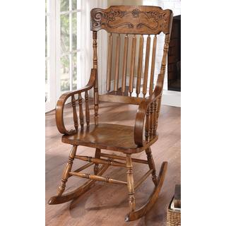 Pavillion Windsor Distressed Brown Rocking Chair