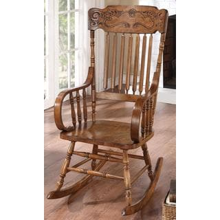 Merveilleux Pavillion Windsor Distressed Brown Rocking Chair