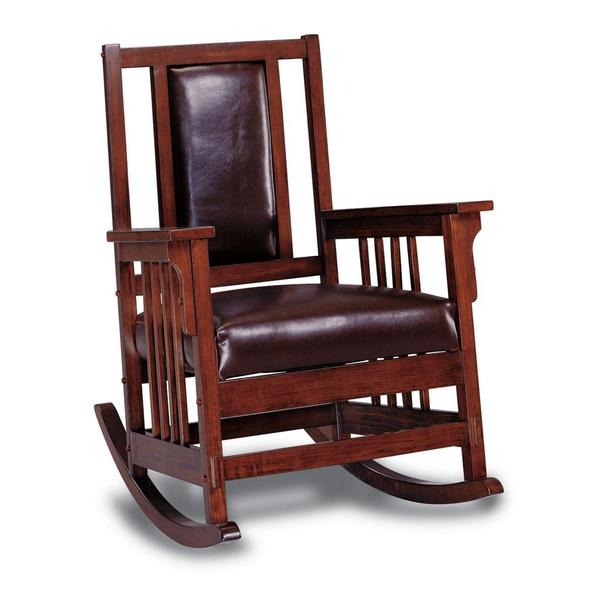 Kapelner Luxury Mission Style Rocking Chair - Free Shipping Today ...
