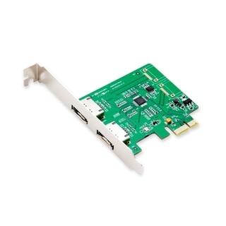IOCrest PCIe 1 Interface 2-Port Eternal eSATA Controller Card 88SE9170 Chipset