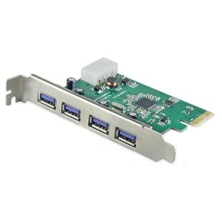 IOcrest PCI Express PCIe USB 3.0 4 Port Card Etron Chipset Molex Power