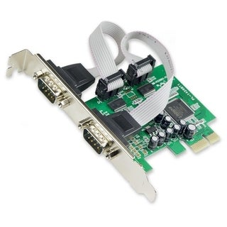 IOcrest PCIe 2x Port Serial DB9 Card Moschip 9922 Chipset