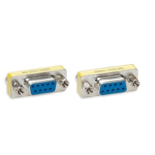 Connectland DB9 Female to Female Mini Gender Changer Adapter Converter