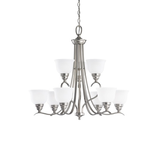 Sea Gull Wheaton 9-light Brushed Nickel Chandelier