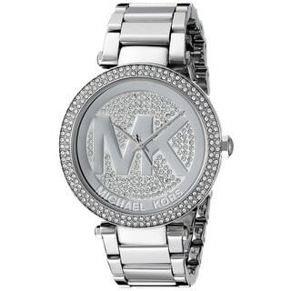official michael kors outlet website yzik  Michael Kors Women's Parker MK5925 Silver Stainless-Steel Quartz Watch with  Silver Dial