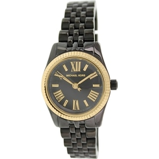 Michael Kors Women's Lexington MK3299 Black Ceramic Quartz Watch with Black Dial