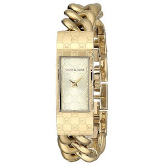 Michael Kors Women's Hayden Gold Stainless-Steel Quartz Watch with Gold Dial