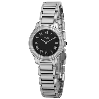 Fendi Women's F251021000 'Classico' Black Dial Stainless Steel Swiss Quartz Watch