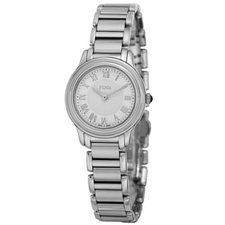 Fendi Women's F251024000 'Classico' White Dial Stainless Steel Bracelet Swiss Quartz Watch