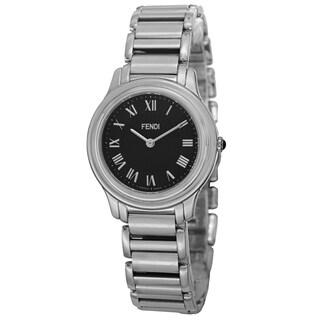 Fendi Women's F251031000 'Classico' Black Dial Stainless Steel Swiss Quartz Watch