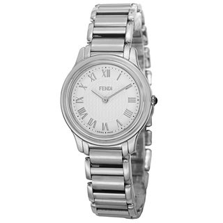 Fendi Women's F251034000 'Classico' White Dial Stainless Steel Swiss Quartz Watch