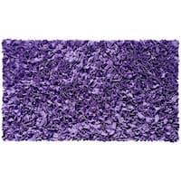 Shaggy Raggy Purple Jersey Cotton Shag Rug - 2'8 x 4'8